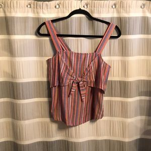 Madewell Striped Rainbow Tank